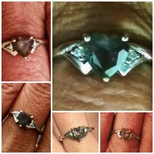 Alexandrite and 10K WG ring